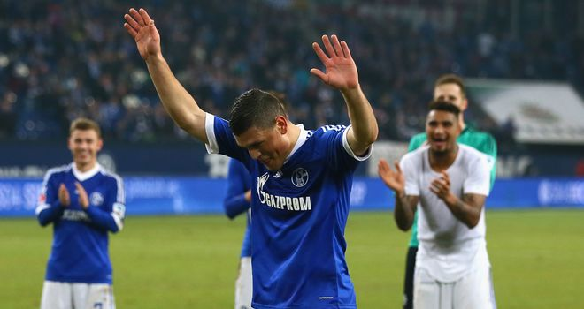 Kyriakos Papadopoulos celebrates for Schalke