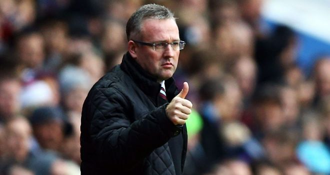 Paul Lambert: His side welcome Crystal Palace to Villa Park