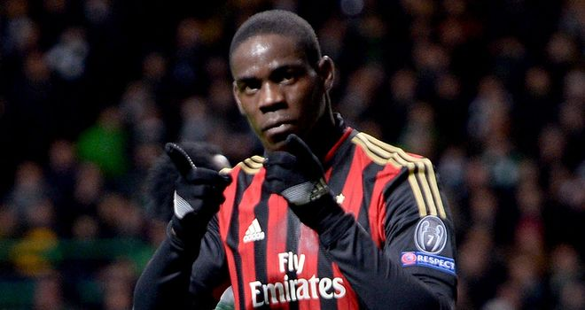 Mario Balotelli: Hit the winner for AC Milan
