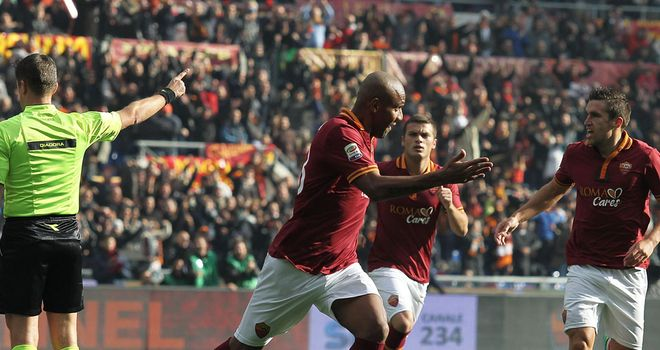 Maicon put Roma ahead in the seventh minute