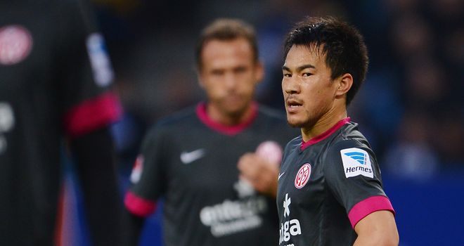 Shinji Okazaki was the star of thw show for Mainz