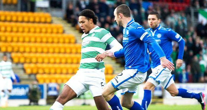 Virgil van Dijk scores the decisive goal as Celtic beat St Johnstone