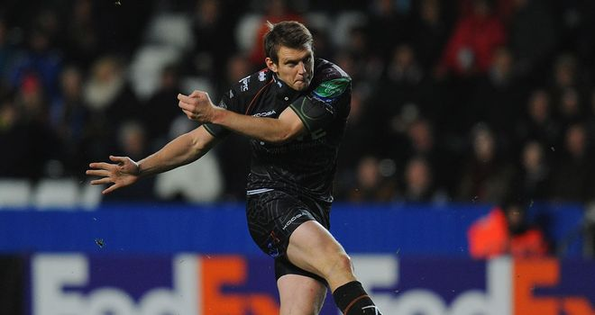 Dan Biggar: Added the extras on comfortable night for Ospreys