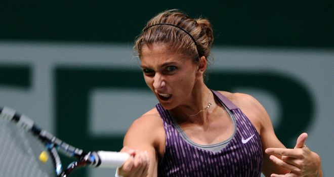 Sara Errani: Was taken to three sets by Chinese wildcard Zheng Saisai
