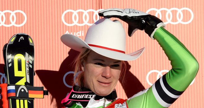 Maria Hoefl-Riesch: Won the downhill in Lake Louise