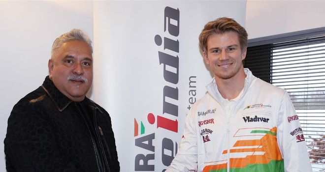 Vijay Mallya first spoke to Nico Hulkenberg about returning to Force India at the Malaysian GP