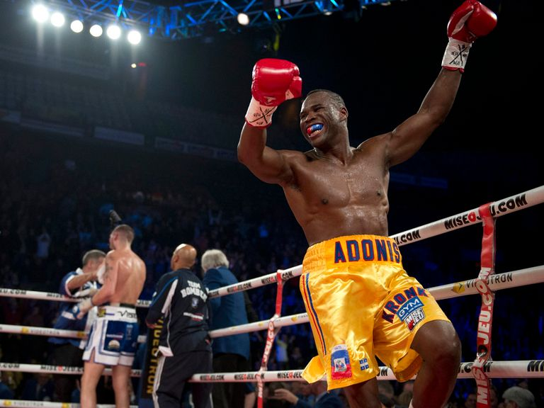 Adonis Stevenson celebrates his victory