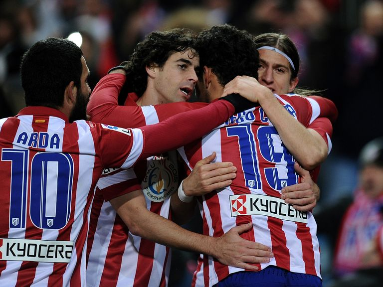 Atletico Madrid celebrate v Valencia
