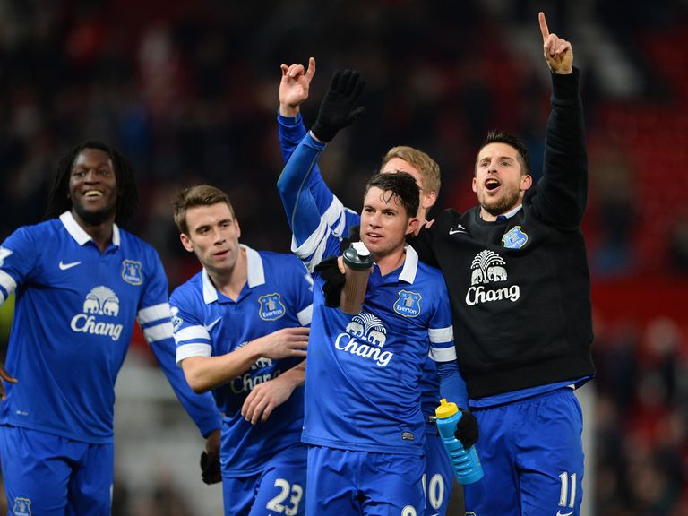 Everton celebrate their win