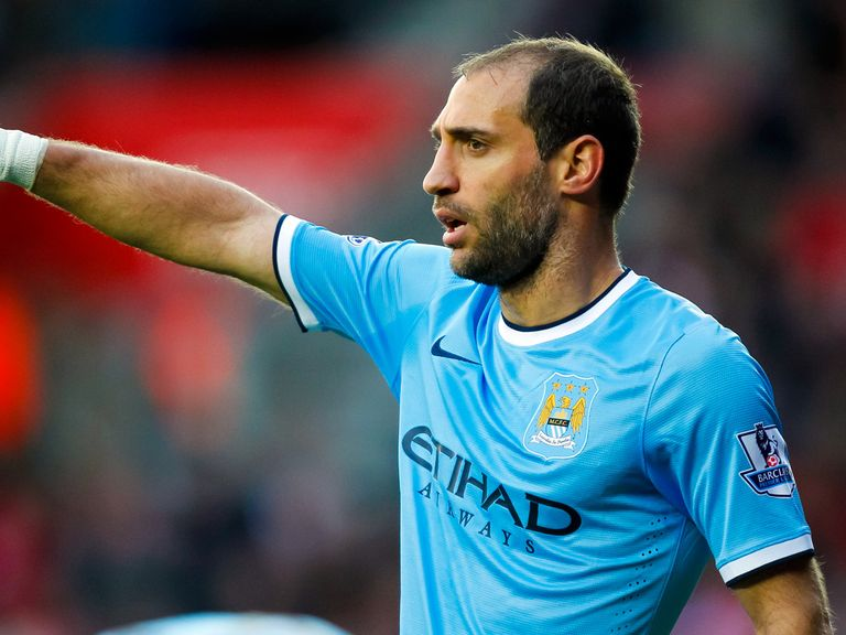 Pablo Zabaleta: Will miss a couple of weeks through injury