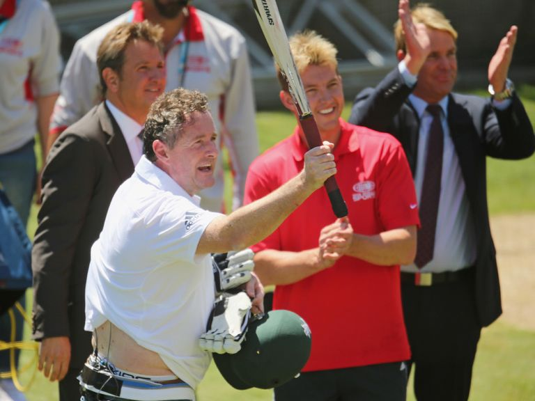 Piers Morgan: 'Celebrity cricket fan'
