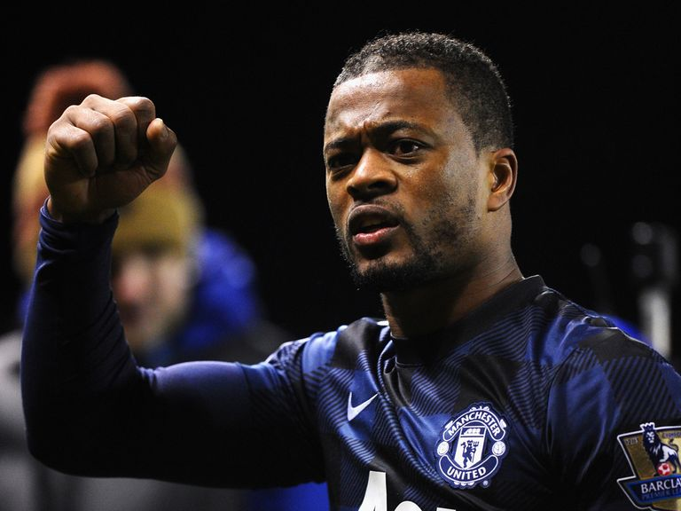 Patrice Evra scored United's second in a 2-0 win