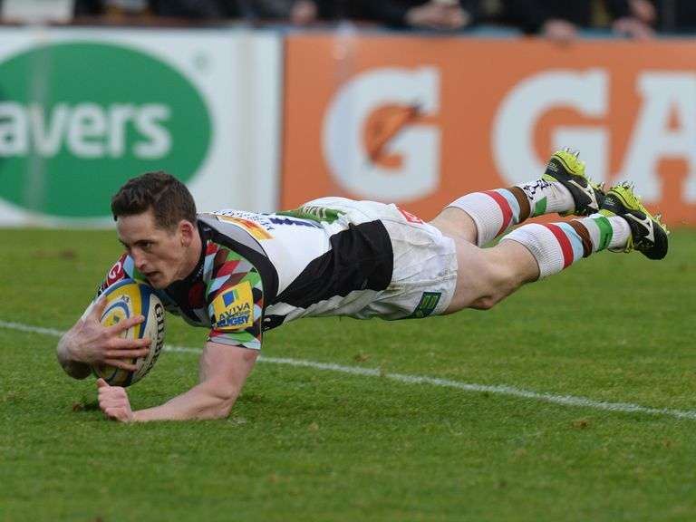 Tom Williams opens the scoring for Harlequins on Sunday