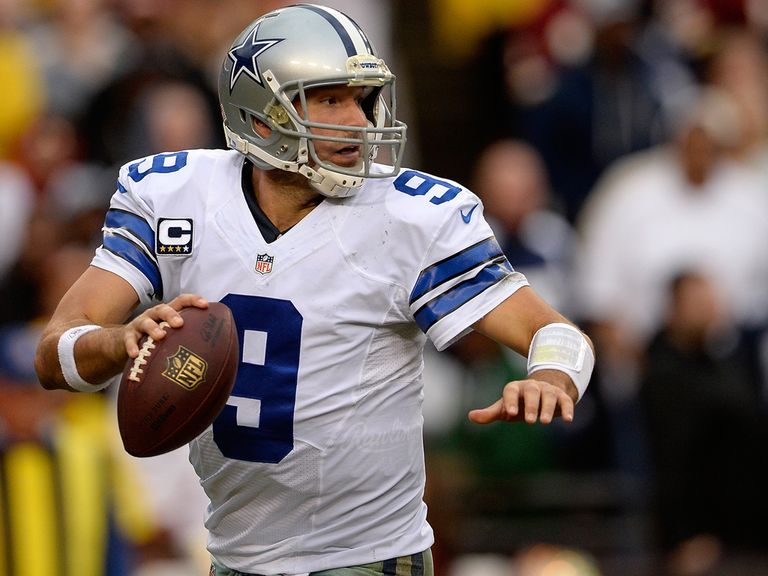 Tony Romo in action against the Redskins