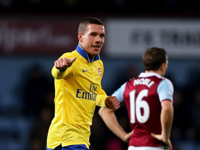 Lukas Podolski: Returned with a goal against West Ham