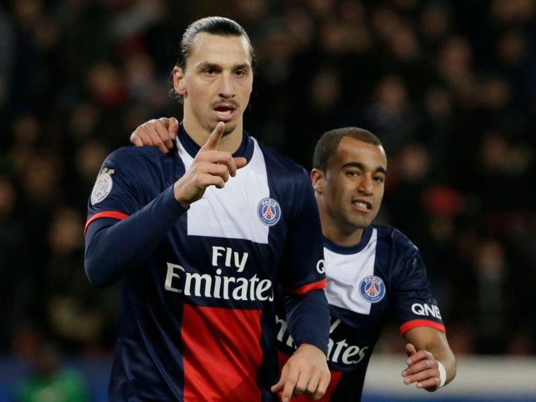 Zlatan Ibrahimovic scored two in PSG's victory