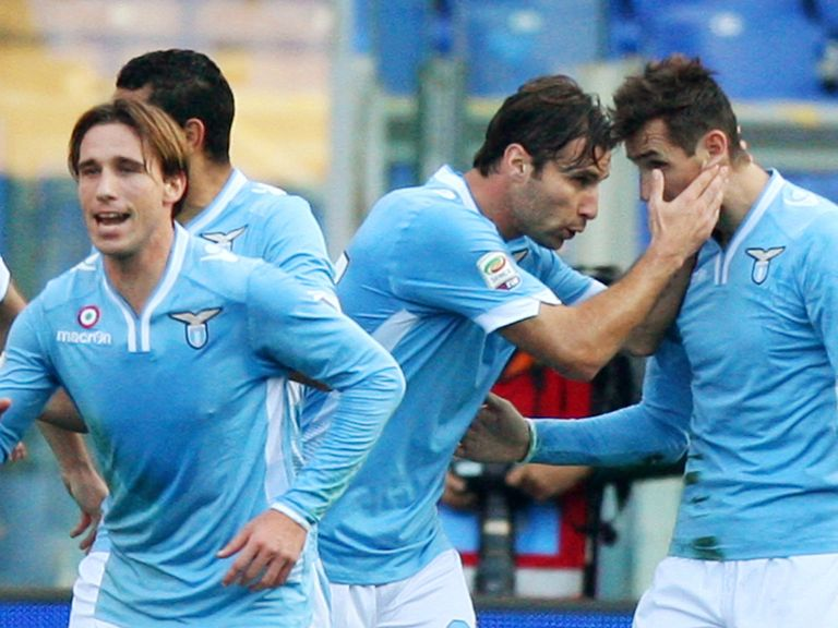 Lazio celebrate against Livorno