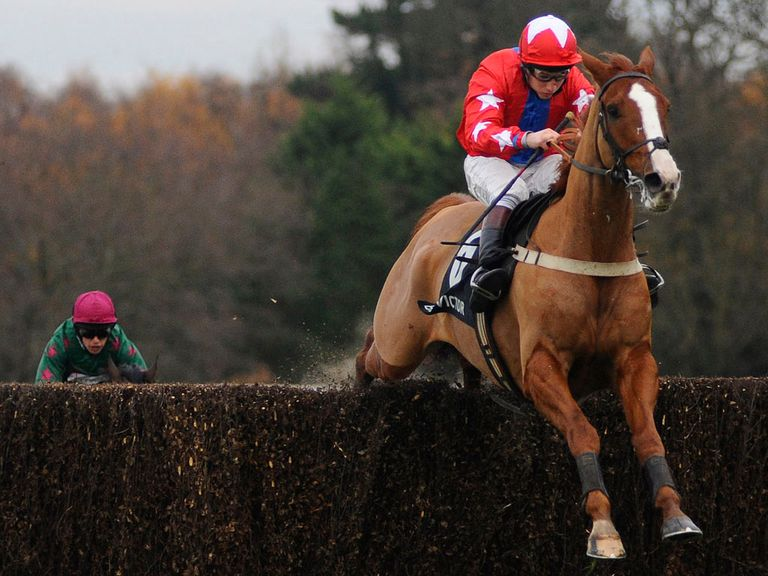 Sire De Grugy on his way to victory in the Tingle Creek Chase