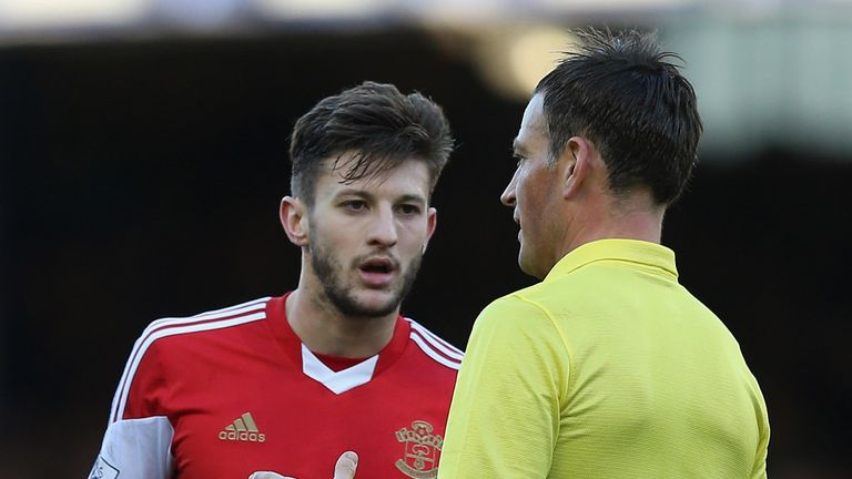 Adam Lallana and Mark Clattenburg: Set to renew acquaintance this weekend