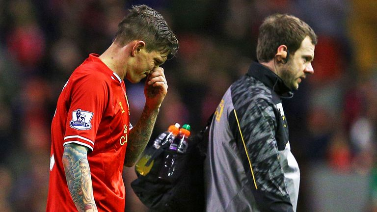 Daniel Agger: Liverpool defender awaiting results of scan on calf injury