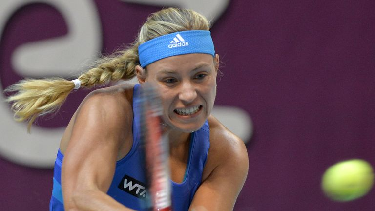 Angelique Kerber: Will play Jelena Jankovic in the last four
