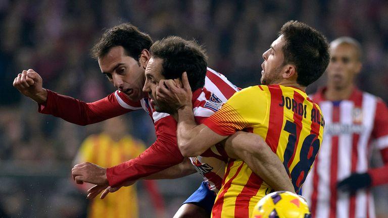 Diego Godin: Vies with Barcelona defender Jordi Alba