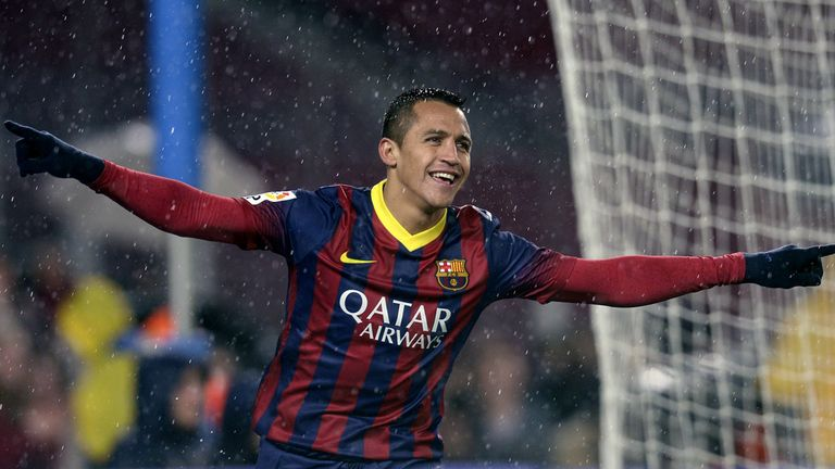 Alexis Sanchez: Barcelona star celebrates