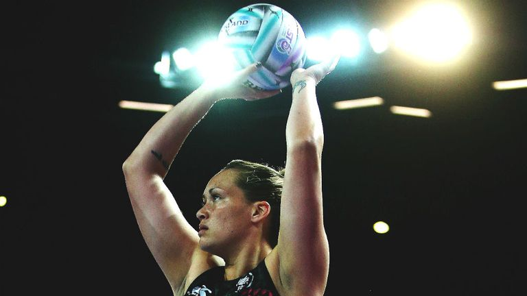 Cathrine Latu: The tall goal shooter helped inspire New Zealand