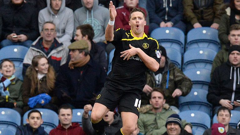 Chris Maguire celebrates Wednesday's equaliser