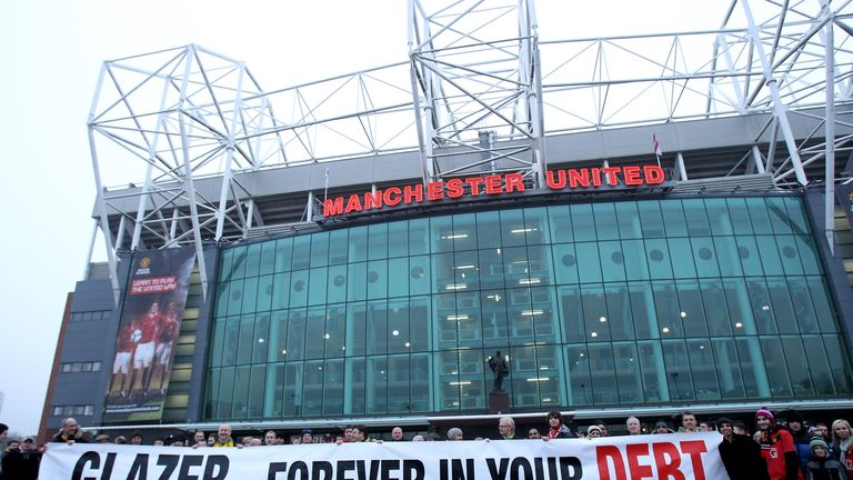 Protest: A number of United fans have voiced their displeasure at the Glazers' running of the club in recent years