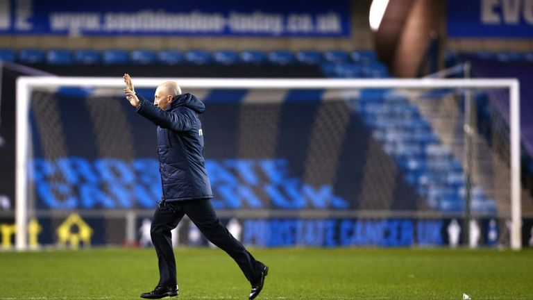 Ian Holloway: Celebrates victory at The Den