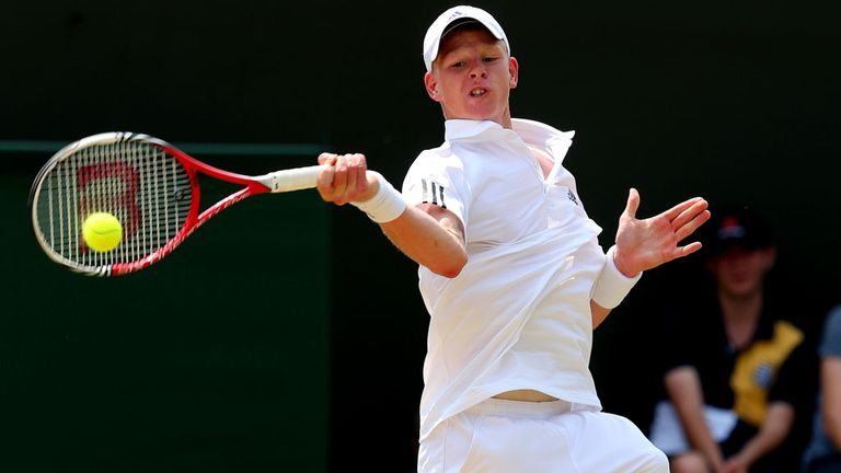 Kyle Edmund at SW19 last summer