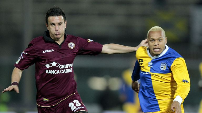 Biabiany (r): Signed new deal with Parma