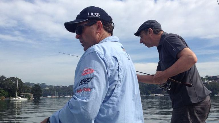 Catch of the day: Mark Taylor and Bumble get back out on the water
