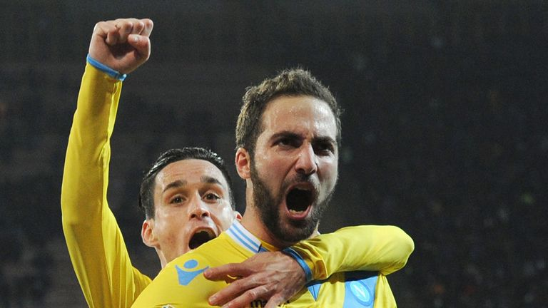 Gonzalo Higuain: Celebrates his late strike