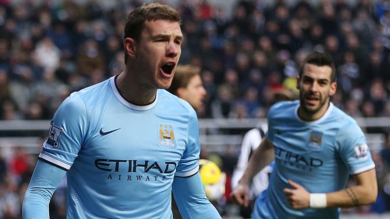 Edin Dzeko: Netted the opening goal for Manchester City at St James' Park