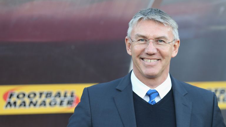 Nigel Adkins is all smiles at Watford