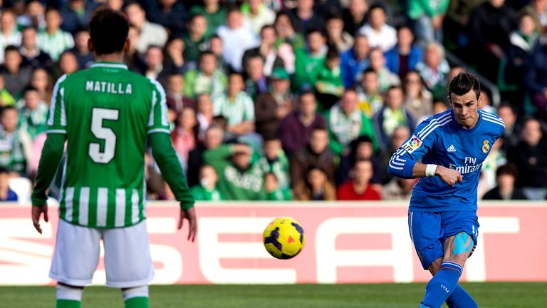 Gareth Bale nets with a free-kick