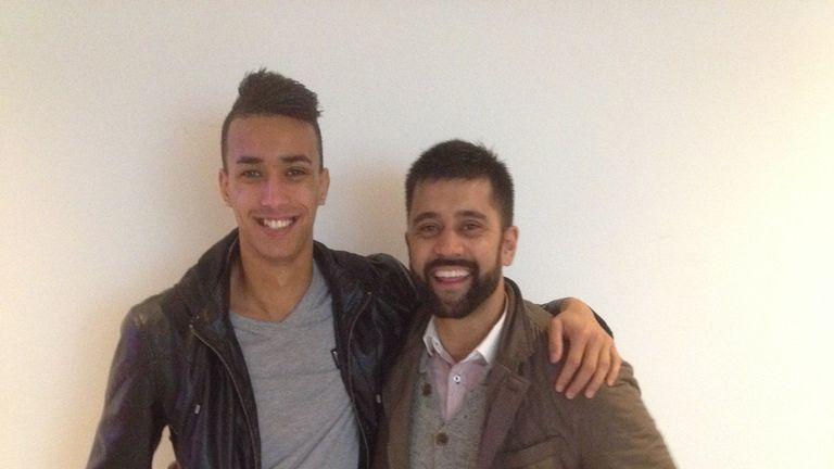 Samuel Aziz (left) with agent Faizal Khan (right)