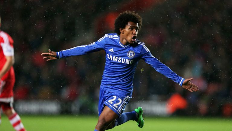 Willian: joined Chelsea from Anzhi Makhachkala last summer