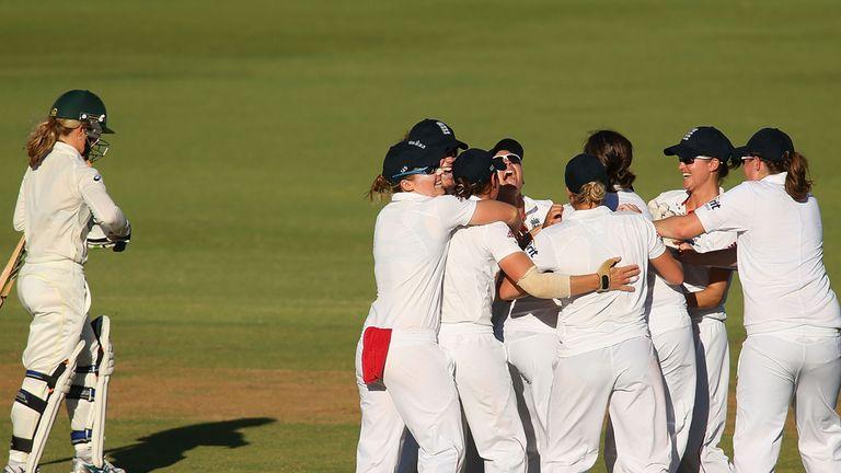 Australia's Jodie Fields departs in Perth, much to England's jubilation