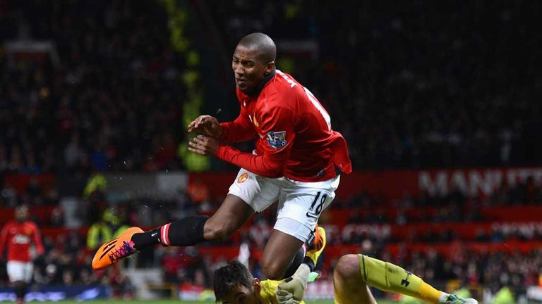 Ashley Young: Injured following controversial collision with Hugo Lloris