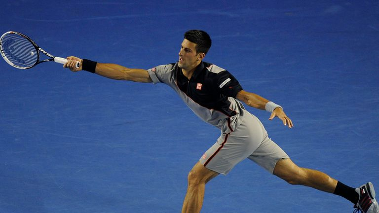 Novak Djokovic: Stretched in the third set before progressing