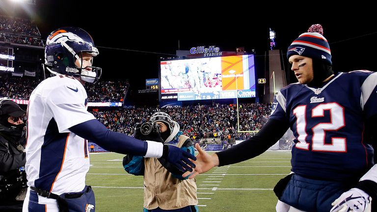 Rivals in hand: Manning and Brady are the biggest and the best, but who will win?