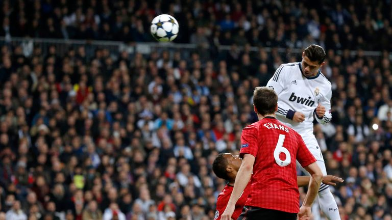 Ronaldo rises highest to score against his former club in the Champions League in 2013