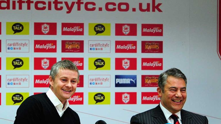 Mehmet Dalman with Solskjaer: Turbulent first season in the Premier League