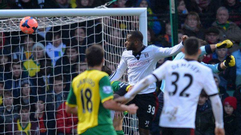 Darren Bent: Headed Fulham into the lead at Carrow Road