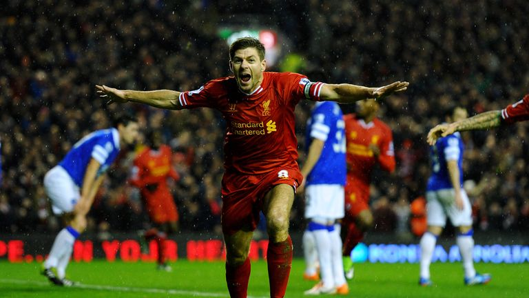 Coins allegedly thrown as Steven Gerrard celebrated at Anfield
