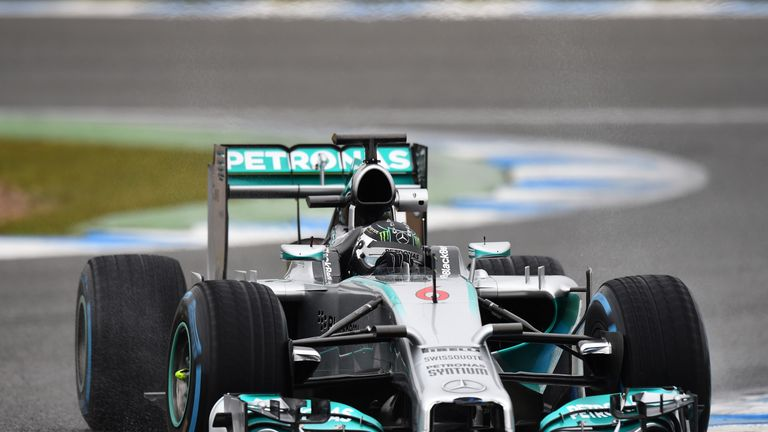 Nico Rosberg: Continued to rack up the laps on Friday morning