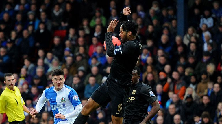 Joleon Lescott: Manchester City defender in action against Blackburn